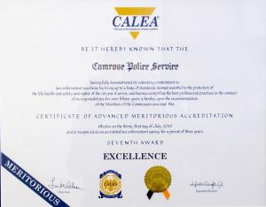 Seventh CALEA certificate1